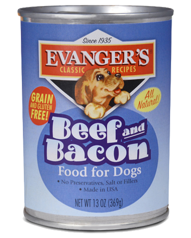 Evanger's Classic Beef & Bacon Canned Dog Food