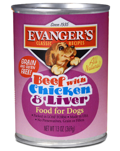 Evanger's Classic Beef with Chicken & Liver Canned Dog Food