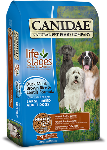 Canidae All Life Stages Large Breed Adult Dog Food with Duck Meal, Brown Rice & Lentils
