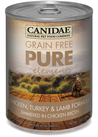 Canidae Grain Free Pure Elements Adult Cat Wet Food Chicken, Turkey, & Lamb Formula