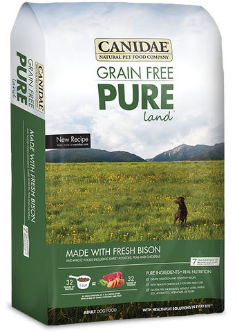 Canidae Grain Free Pure Land Adult Dog Formula Made with Fresh Bison