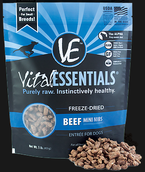 Vital Essentials Freeze-Dried Beef Mini Nibs 1lb Dog Food