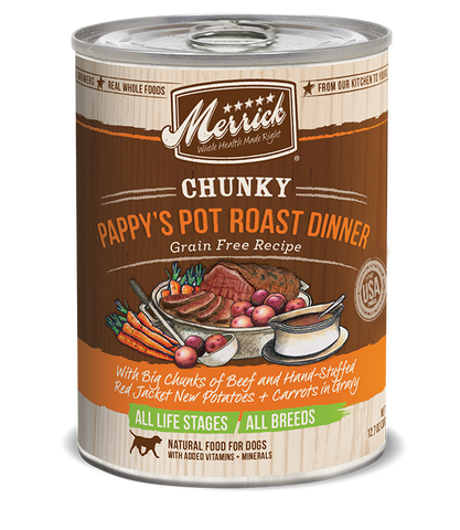 Chunky Pappy's Pot Roast Dinner Grain Free Recipe Adult