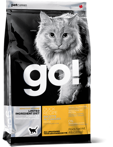 GO! Petcurean Sensitivity + Shine™ Limited Ingredient Duck Dry Cat Food
