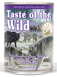Taste of the Wild Sierra Mountain Canine® Formula with Lamb in Gravy