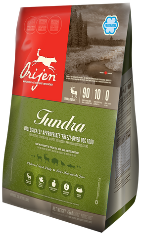 ORIJEN Tundra Freeze Dried Biologically Appropriate Dog Food