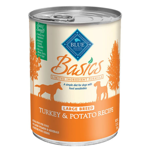 Blue Basics Limited Ingredient Large Breed Turkey & Potato Canned Dog Food