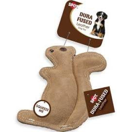 Dura Fuse Leather Squirrel Dog Toy
