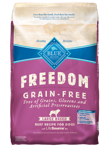 BLUE Freedom Grain-Free Large Breed Adult Beef Dry Dog Food