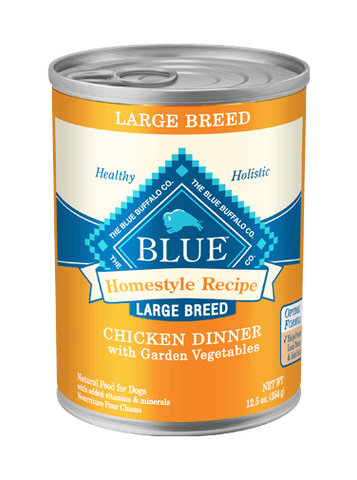 BLUE Homestyle Recipe® Chicken Dinner with Garden Vegetables Large Breed Adult Canned Dog Food