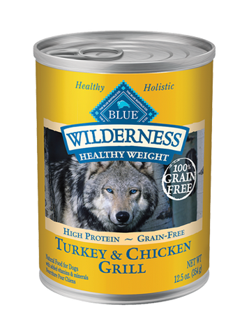Blue Wilderness Healthy Weight Turkey & Chicken Grill Adult Canned Dog Food