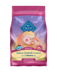 BLUE Indoor Hairball Control Adult Chicken & Brown Rice Dry Cat Food