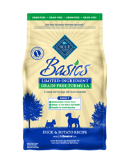 BLUE Basics Adult Dog Grain-Free Duck & Potato Recipe Dry Dog Food