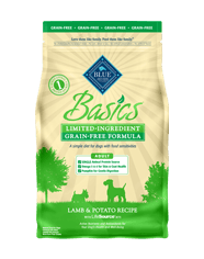 Blue Basics Adult Dog Grain-Free Lamb & Potato Dry Dog Food