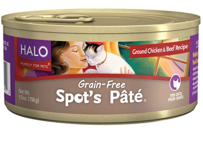 Halo Spot's Pate Chicken & Beef Canned Cat Food