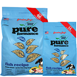 Grandma Lucy's Pureformance Fish Freeze Dried Dog Food