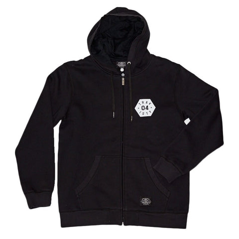 04 STAR Zip Hood (Black) Travisty Men's Clothing