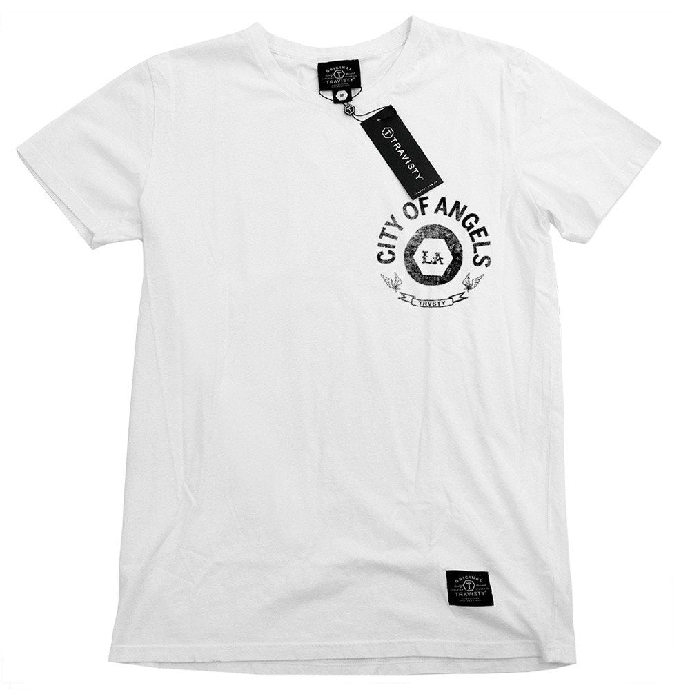 CITY OF ANGELS Tee (White) Travisty Men's Clothing