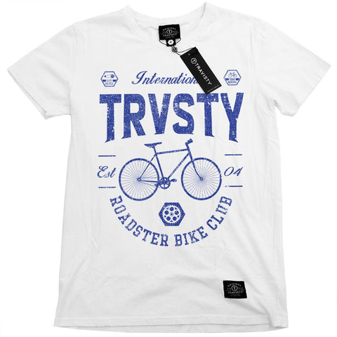 ROADSTER Tee (White) Travisty Men's Clothing