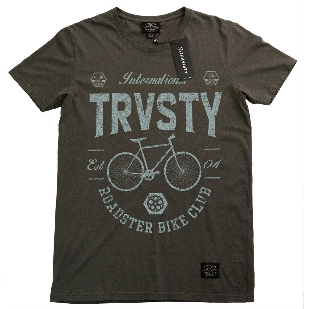 ROADSTER Tee (Charcoal) Travisty Men's Clothing