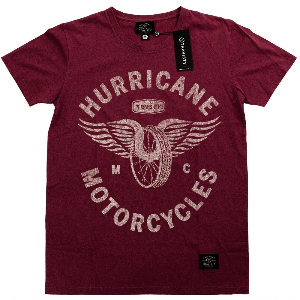 HURRICANE Tee (Maroon) Travisty Men's Clothing