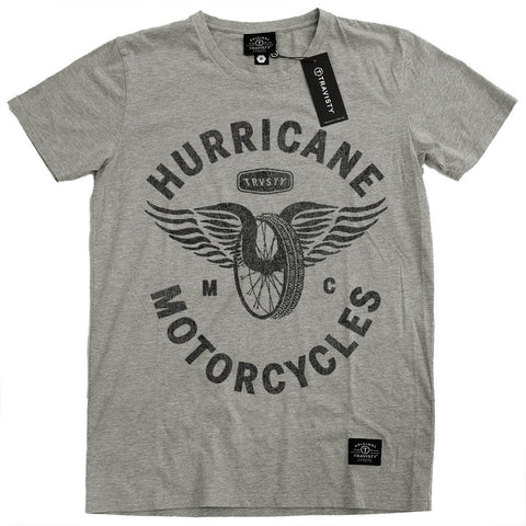HURRICANE Tee (Grey) Travisty Men's Clothing