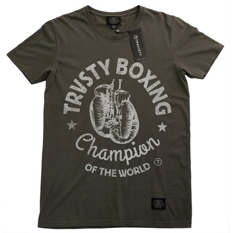 BOXING Tee (Charcoal) Travisty Men's Clothing