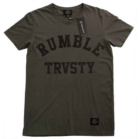 RUMBLE Tee (Charcoal) Travisty Men's Clothing