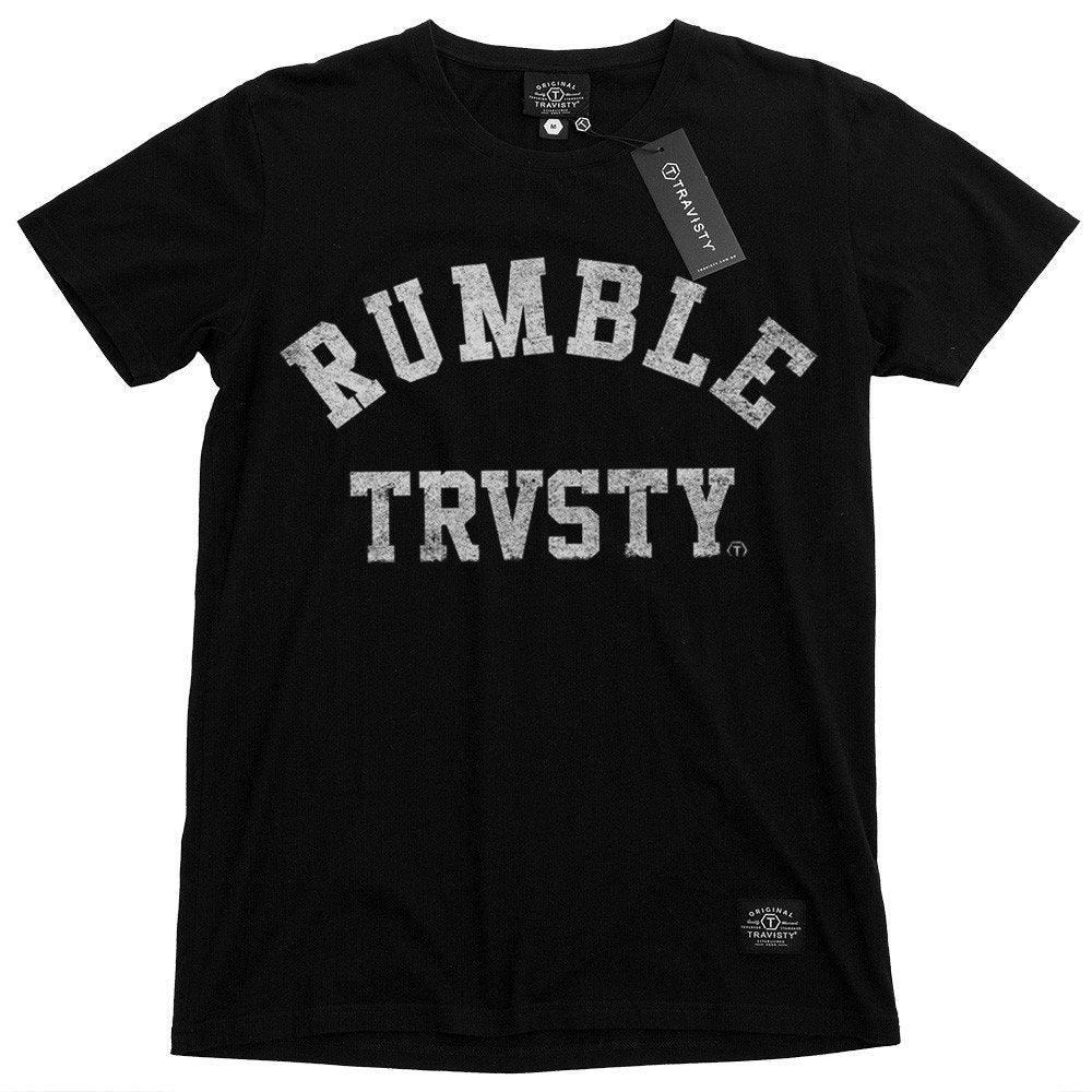 RUMBLE Tee (Black) Travisty Men's Clothing