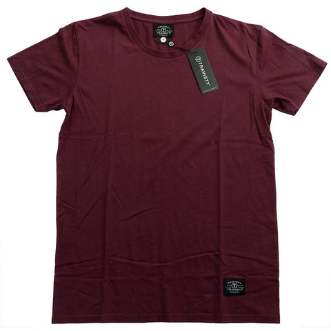 TRAVISTY BASICS Tee (Maroon) Travisty Men's Clothing