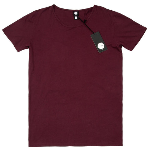 TRV BASICS Tee (Maroon) Travisty Men's Clothing