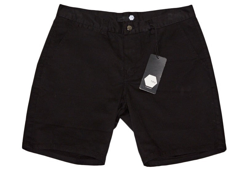 TRV CHINO SHORTS (Black) Travisty Men's Clothing