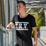TRV CUSTOM Tee (Black) Travisty Men's Clothing