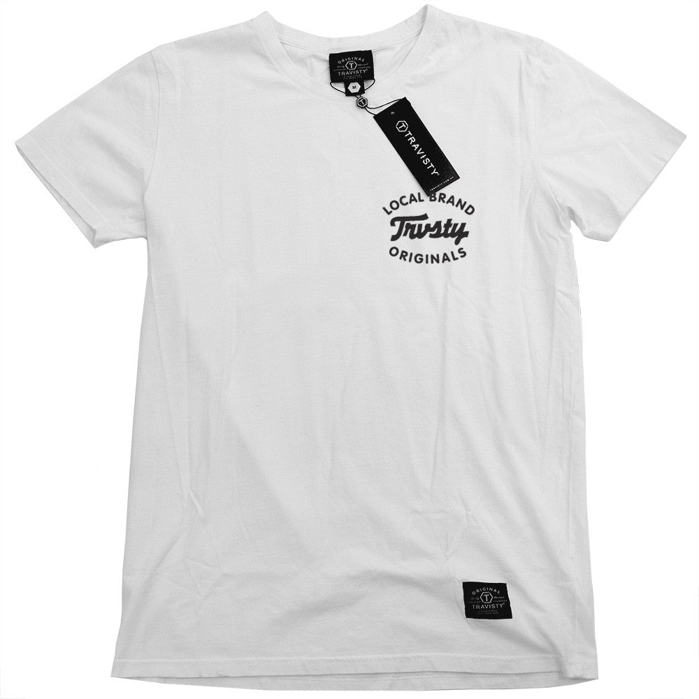 LOCAL BRAND Tee (White/Black) Travisty Men's Clothing