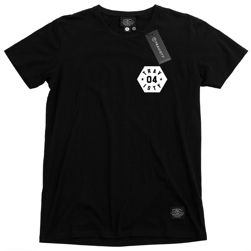 04 STAR Tee (Black/White) Travisty Men's Clothing