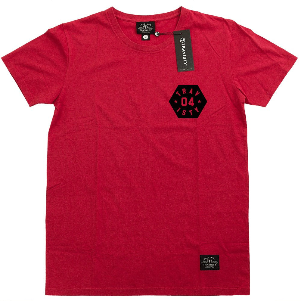 04 STAR Tee (Red/Black) Travisty Men's Clothing