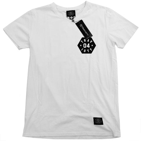 04 STAR Tee (White/Black) Travisty Men's Clothing