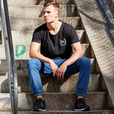 TRV REEF Tee (Black) Travisty Men's Clothing
