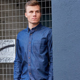 TRV AFTER DARK Shirt (Midnight Blue) Travisty Men's Clothing