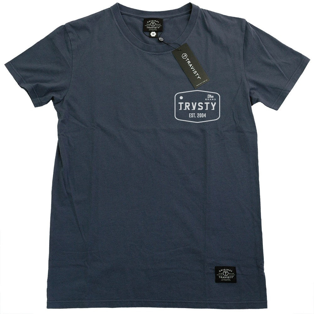 THE BRAND Tee (Blue/White) Travisty Men's Clothing