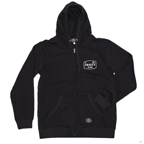 THE BRAND Zip Hood (Black) Travisty Men's Clothing