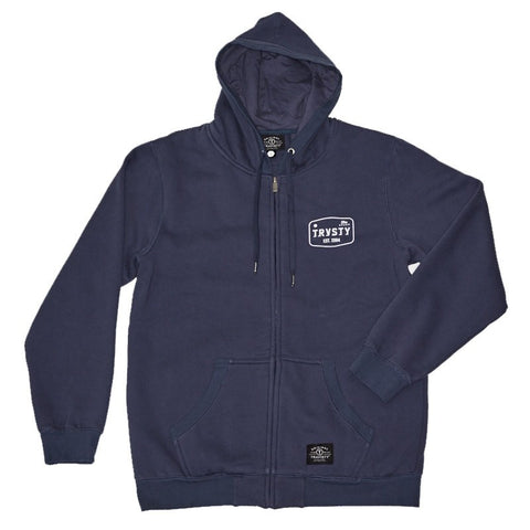 THE BRAND Zip Hood (Blue) Travisty Men's Clothing