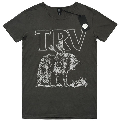 T SHIRT - TRV LONE WOLF Tee (Charcoal)