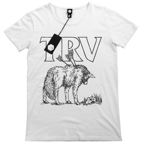 T SHIRT - TRV LONE WOLF Tee (White)