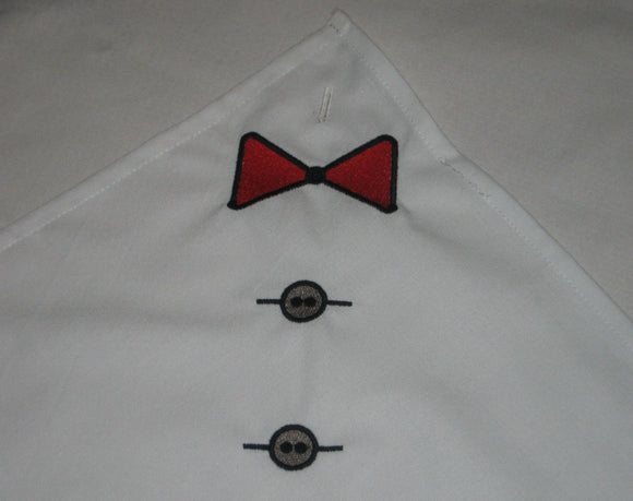 Buttonhole napkin for him, Gag gift, Dinner napkin with buttonhole, napkin bib,