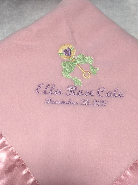 Customizable Baby Blanket, Baby Gift, Personalized Christening Gift, Baby Shower