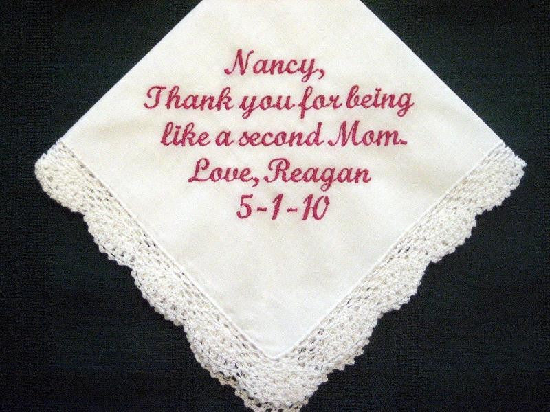 Someone Special 157S with Free Gift Box and Free shipping in US Personalized Wedding Handkerchief