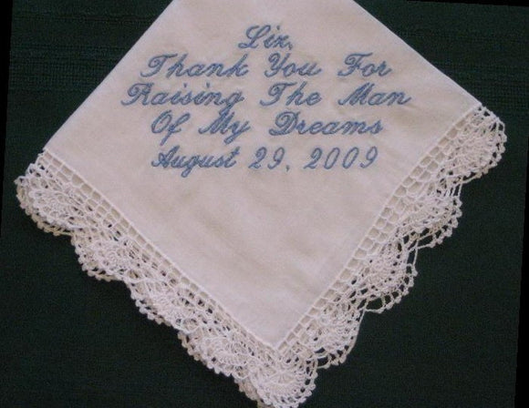 Mother of the Groom  Hanky with Gift Box 14S includes shipping in the US