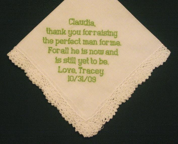 Mother of the Groom Hanky with Gift Box 46B