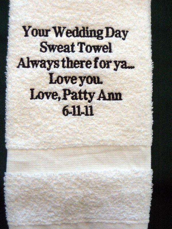 Personalized Wedding Gift - Wedding Sweat Towel